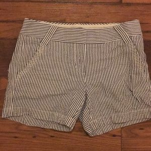 J.Crew seersucker blue and white shorts, size 0